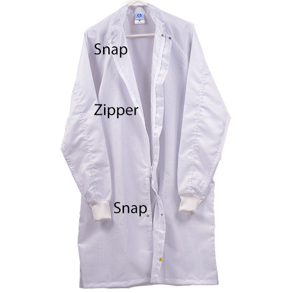 White Cleanroom ESD Safe Anti Static Lab Coats