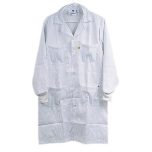 5049 Series White Knitted Cuff ESD Lab Coat