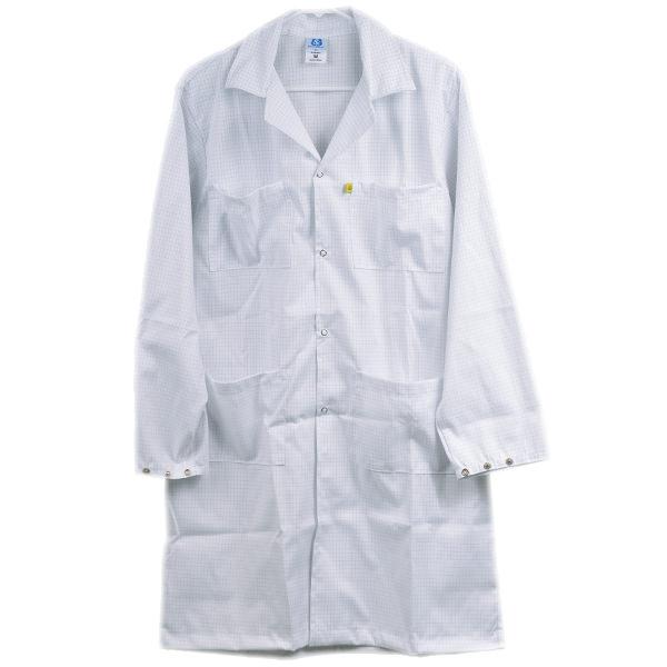 5049 Series White Snap Cuff ESD Lab Coat