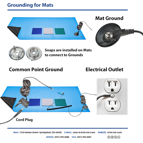 Anti Static ESD Mat Grounding Cables