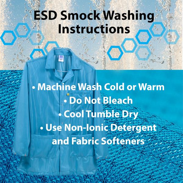 How to wash ESD Smocks